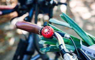 Rote Fahrradklingel